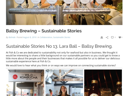 Ballsy Brewing – Sustainable Stories